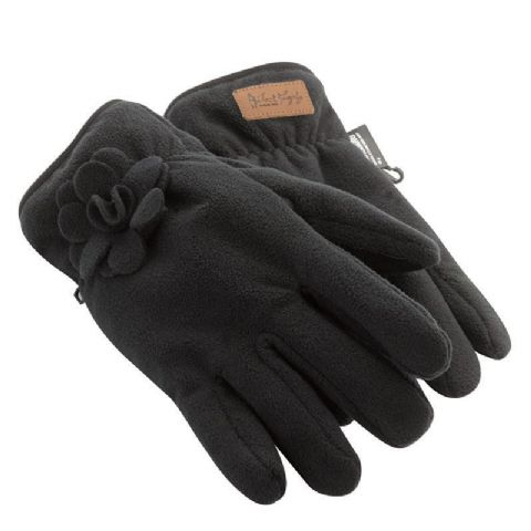 Jack Murphy Ladies Hickstead Fleece Glove - Thinsulate - Black , Navy